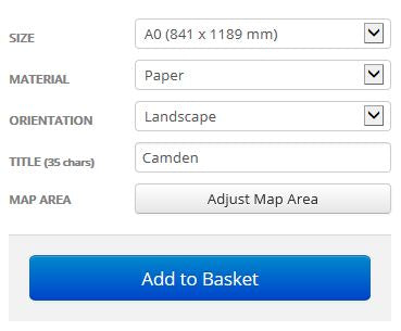 Camden London Borough Postcode Map Options