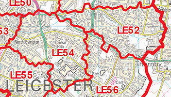 Leicester Map Of Census Counts