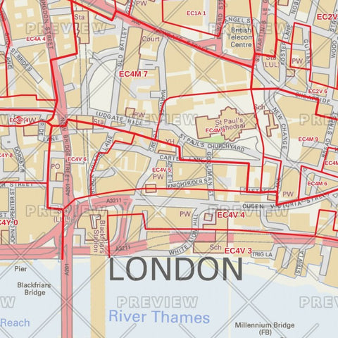 City of London Borough Postcode Map Map Logic