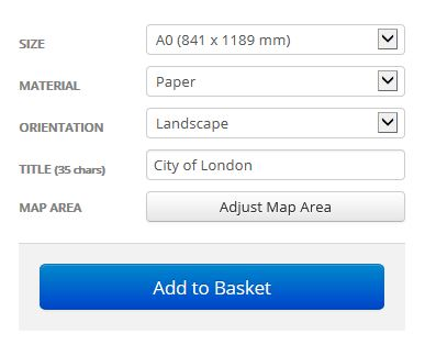 City Of London Borough Postcode Map Options