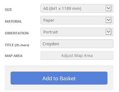 Croydon London Borough Street Map Options