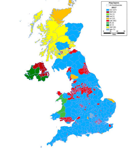 2017 General Election Result Map