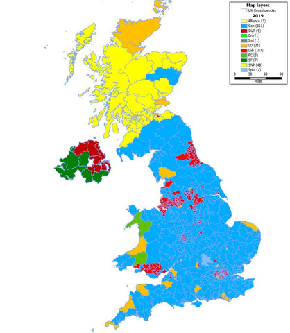 2019 Predicted General Election Result Map