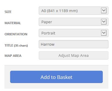 Harrow London Borough Street Map Options