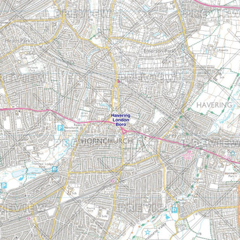 <p>The Havering London Borough Street Map shows Street Sector boundaries and street names within the Borough.</p>