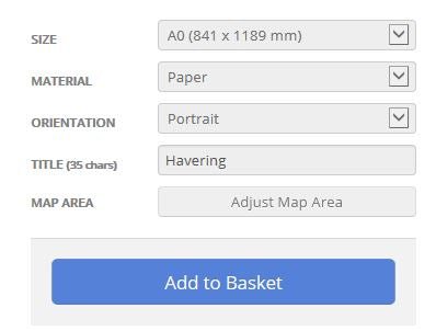 Havering London Borough Street Map Options