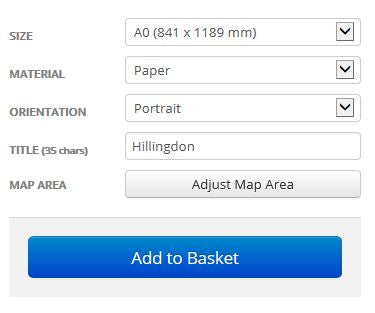 Hillingdon London Borough Street Map Options