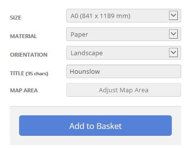Hounslow London Borough Postcode Map Options