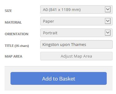 Kingston upon Thames London Borough Postcode Map Options
