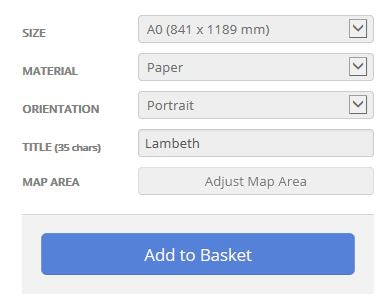Lambeth London Borough Postcode Map Options