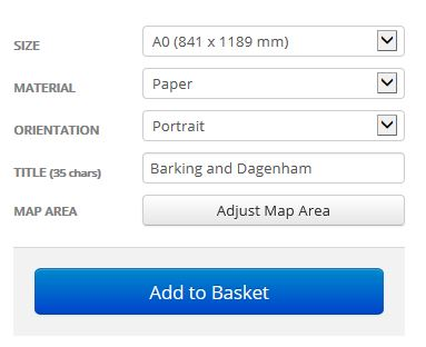 London Borough Street Map Options