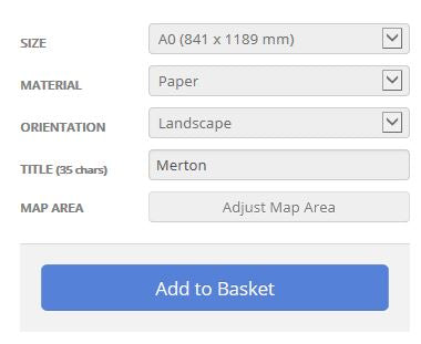 Merton London Borough Street Map Options