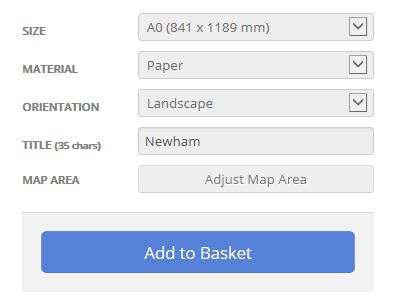 Newham London Borough Street Map Options