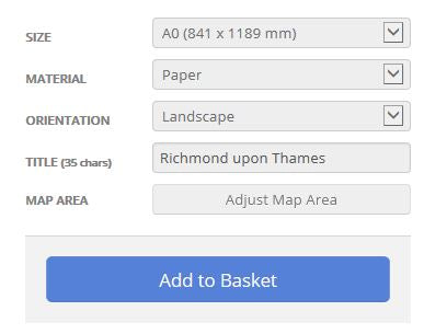 Richmond upon Thames London Borough Street Map Options