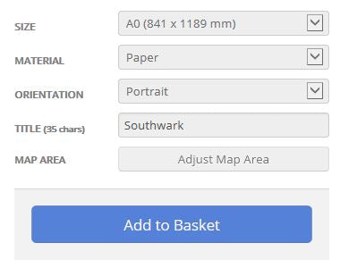 Southwark London Borough Street Map Options