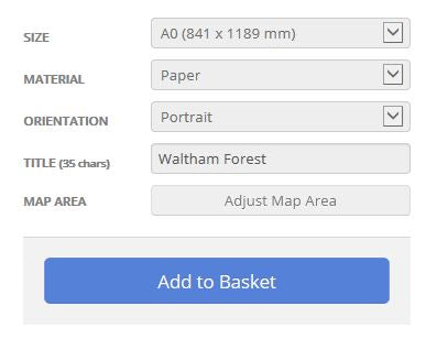 Waltham Forest London Borough Postcode Map Options
