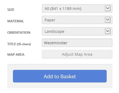 Westminster London Borough Street Map Options
