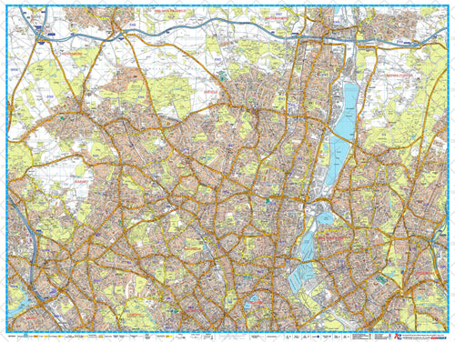 a z north london postcode street map