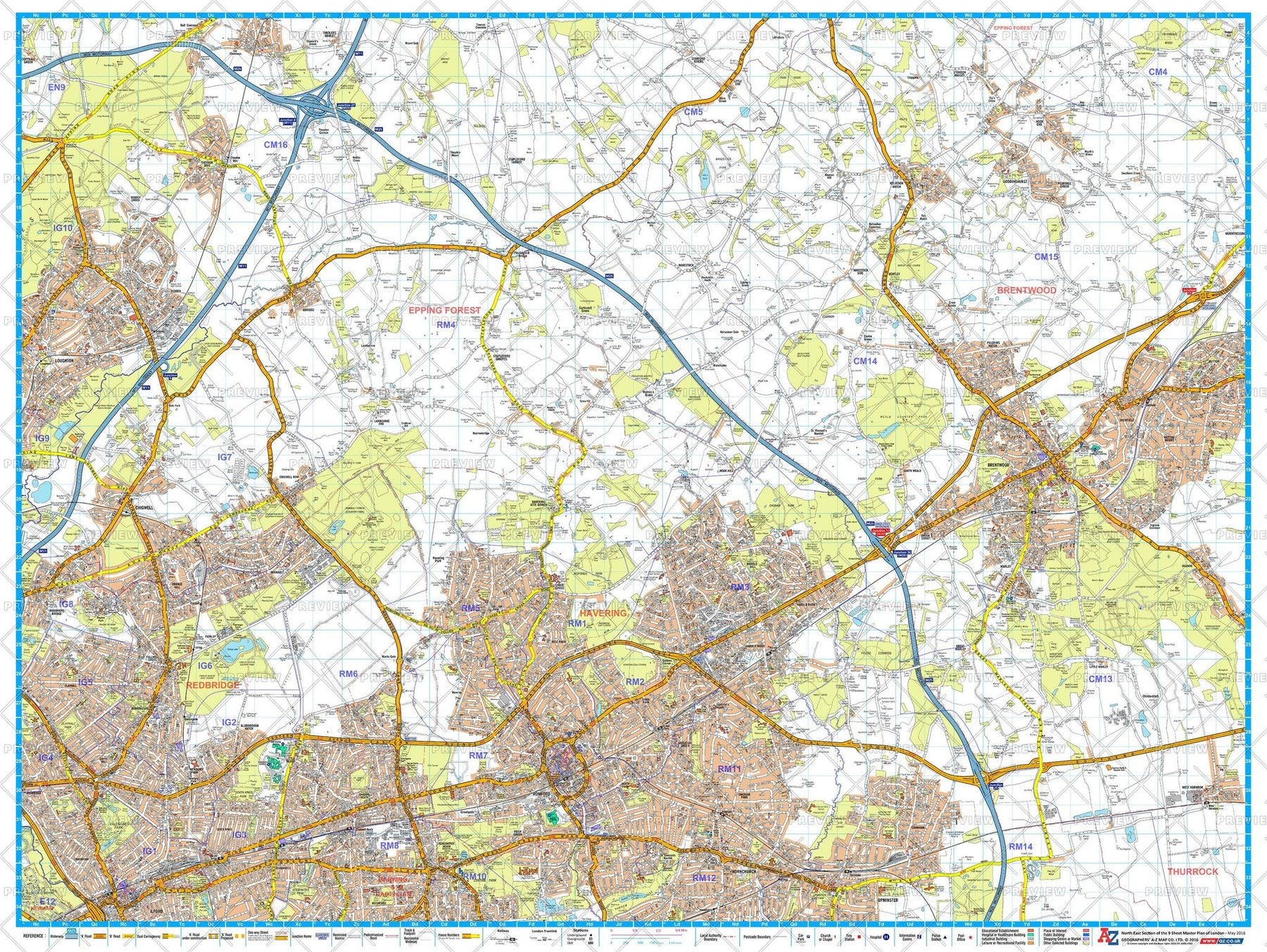 Az Street Map Of London.A Z London Master Plan North East