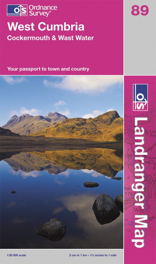 OLR089: Ordnance Survey Landranger Map of West Cumbria, Cockermouth & Wast Water Paper Front Cover