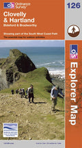 OS Explorer Map of Clovelly & Hartland (OL126) Paper Front Cover