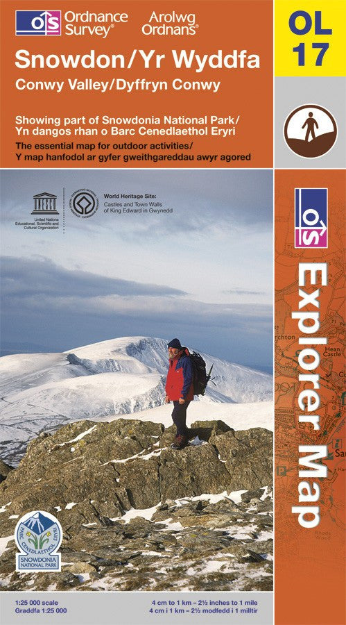 OL17: Ordnance Survey Explorer Map of Snowdon and the Conwy Valley Front Cover