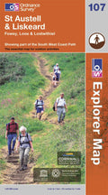 OS Explorer Map of St Austell & Liskeard (OL107) Paper Front Cover