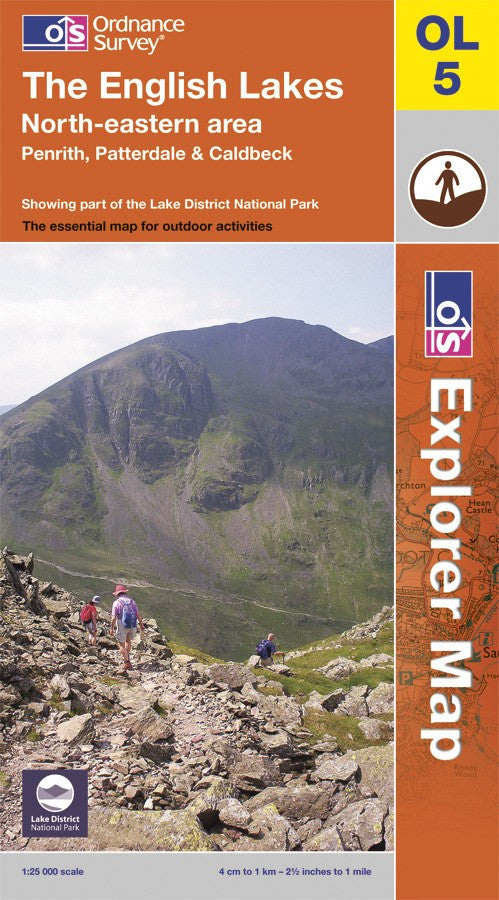 OL05: Ordnance Survey Explorer Map of the English Lake District (North East) Paper Front Cover