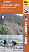 OL06: Ordnance Survey Explorer Map of the English Lake District (South West) Paper Front Cover