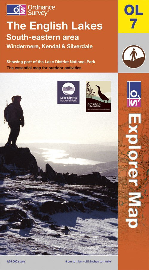 OL07: Ordnance Survey Explorer Map of the English Lake District (South East) Paper Front Cover