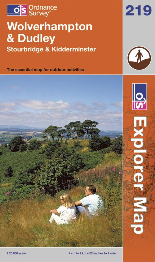 OL219: Ordnance Survey Explorer Map of Wolverhampton & Dudley Paper Front Cover