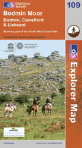 OS Explorer Map of Bodmin Moor (OL109) Paper Front Cover