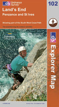 OS Explorer Map of Land's End (OL102) Paper Front Cover
