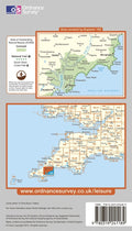 OS Explorer Map of Falmouth & Mevagissey (OL105) Back Cover