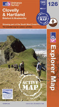 OS Explorer Map of Clovelly & Hartland (OL126) Active Front Cover