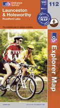 OS Explorer Map of Launceston & Holsworthy (OL112) Active Front Cover