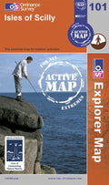 OS Explorer Map of Isles of Scilly (OL101) Active Front Cover