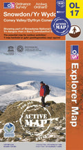 OL17: Ordnance Survey Explorer Map of Snowdon and the Conwy Valley Active Front Cover