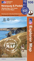 OS Explorer Map of Newquay & Padstow (OL106) Active Front Cover