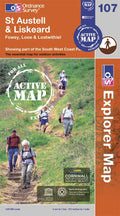 OS Explorer Map of St Austell & Liskeard (OL107) Active Front Cover