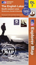 OL07: Ordnance Survey Explorer Map of the English Lake District (South East) Active Front Cover