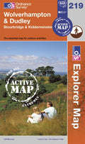 OL219: Ordnance Survey Explorer Map of Wolverhampton & Dudley Active Front Cover