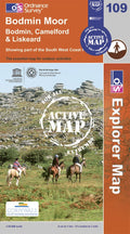 OS Explorer Map of Bodmin Moor (OL109) Active Front Cover