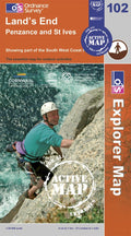 OS Explorer Map of Land's End (OL102) Active Front Cover