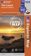 OS Explorer Map of The Lizard (OL103) Active Front Cover