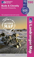 OLR190: Ordnance Survey Landranger Map of Bude & Clovelly Active Front Cover