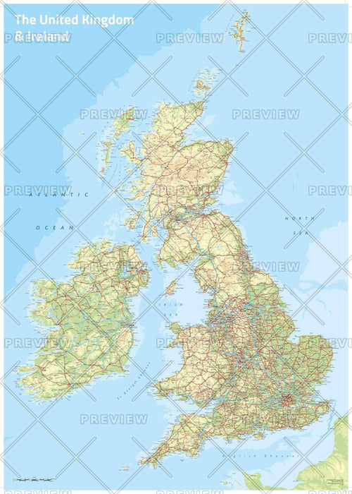 UK & Ireland Topographic