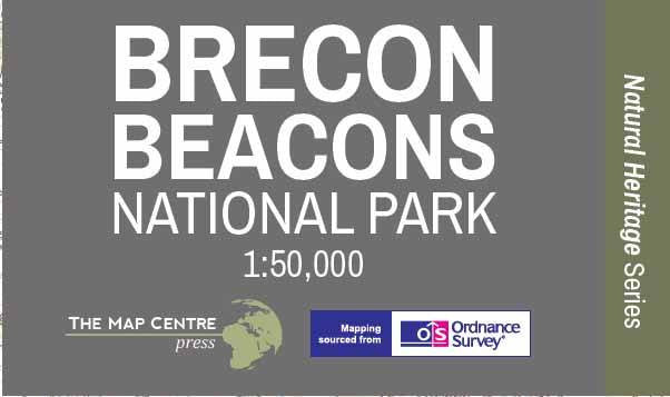 Brecon Beacons National Park Wall Map Map Logic - Wall map of us national parks