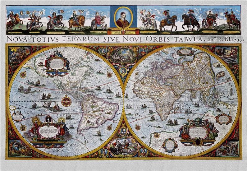 Blaeu Antique World Map Full Sheet