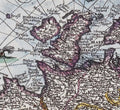 Great Britain on the Blaeu Antique World Map Detail